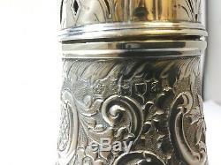 Grande Roulette À Sucre Victorienne En Argent Massif 1896 William Hutton & Sons London 270g