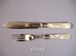 Harrison Brothers Howson Sheffield Sterling Mother Pearl Silver Epns Flatware
