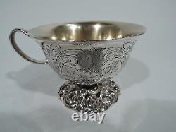 Je Caldwell Punch Bowl & Cups Antique Centerpiece Américain Sterling Silver