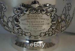 Lourd Et Grandes 1894 Victorienne En Argent Massif Fruit Bowl