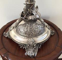 Magnifique Grand Candélabre En Argent Sterling À Sept Lumières De 74 CM De Hauteur