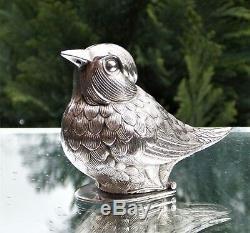 Magnifique Oiseau Nouvelle Victorienne En Argent Massif (wren)