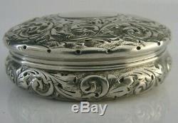 Magnifique Trinket Box C1900 Antique Victorian 2,25 Pouces