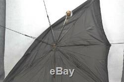 Marcher Argent Parapluie Parasol Mop Edwardian Parties Victorian Repoussés Antique