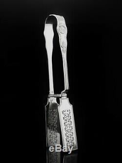 Mary Chawner Antique Silver Asperges, Londres Tenailles 1838