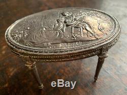 Miniature Argent Antique Dutch Poupées Maison Table Englishimport Marks London 1902