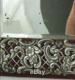 Miroir De Coiffeuse Victorienne Tardive De Bonne Taille