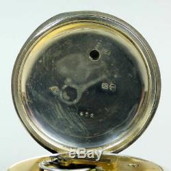 Montre De Poche Victorienne Antique À Motif Argent Waltham Birmingham 1883 G. W. O