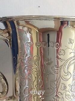 Mug Ou Tasse En Argent Massif Ornée Victorienne, Londres 1843