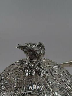 Nid D'oiseau Tiffany Café À Thé 1375 1875 2275 2325 En Argent Sterling