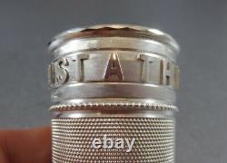 Nouveauté Victorienne Sterling Whiskey Measure. Birm 1890 Juste Un Thimbleful! Cas