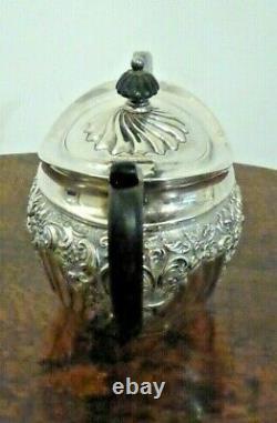 Orné Antique Victorian Sterling Silver Tea Pot Birmingham 1894 340g