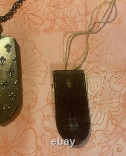 Ornée Victorienne Sterling Chatelaine Buttonhook, Noix Sterling, Flacon Parfumé