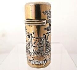 Parfum Argent Doré Kate Greenaway Bouteille Sampson Mordan Londres 1884