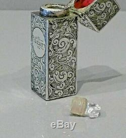 Parfum D'argent Bouteille 1884 Birmingham, Poinçonnés Avec Makers Mark