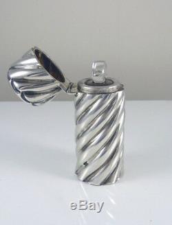 Parfum Victorienne En Argent Sterling Antique Bouteille Conception En Spirale Poinçonnés 1891