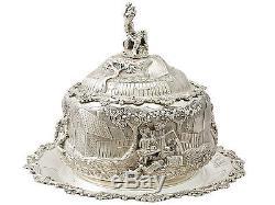 Plat À Dessert En Argent Massif D'époque Victorienne