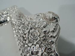 Plateau Tiffany 5140 Antique Repousse Victorienne En Argent Sterling