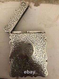 Porte-cartes Antique Magnifique Ornate Hallmarked