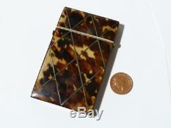 Porte-cartes D'appel Victorien Édouardien Du Xixe Siècle Incrusté De Diamants Vierges En Forme De Cartouche