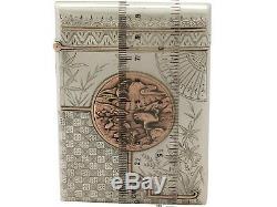 Porte-cartes En Argent Sterling De Style Esthétique Victorien Antique
