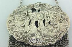 Porte-monnaie Anglais En Argent Massif Victorien Tardif