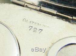 Porte-monnaie D'époque Signée Chatelaine En Argent Sterling Watrous, Signé