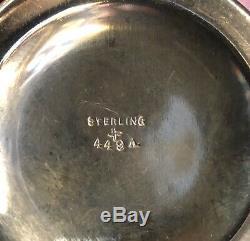 Pot De Gingembre Antique Repousse Sterling Silver Tea Caddy Gilt Wash Intérieur