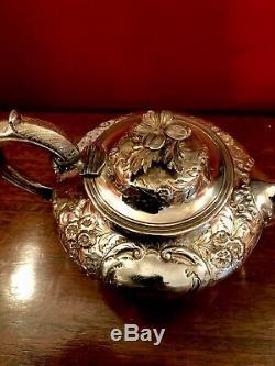 Pot Londres 1847 Par Richard Pearce & George Burrows Argent Thé Victorien