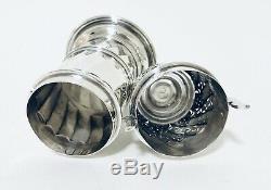 Qualité Antique Britannia Silver Silver Sugar Shaker Roulette Londres 1893
