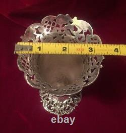 Rare Antique Spaulding Co. Sterling Silver Vase Beautiful Très Détaillé