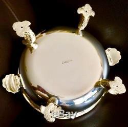 Rare Argent Massif Grand 8 / 20cm Lourd (1,6 Kg) Anglais Caviar De William Comyns Anglais