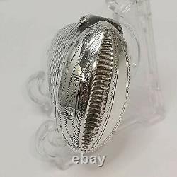 Rare Argent Sterling Nouveauté Cas Vesta Saumon Poisson Tête Birmingham 1892 P1127
