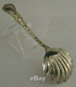 Rare Bachique Motif Argent Massif Sucre Sifter Cuillère 1892 Antiquités