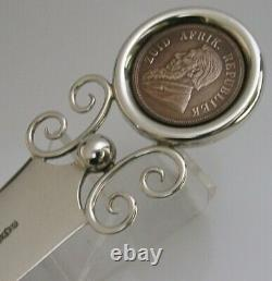 Rare Boer War Anglais Solid Sterling Silver Letter Opener S Africa Coin 1898
