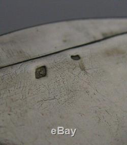 Rare Boîte À Snuff Mecanique Argent Massif C1900 Antique