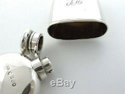 Rare Et Irish Flasque, Dublin 1887 Edmund Johnson Spirit Cup Huppé