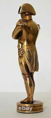Rare Fine Qualité Victorian Gilt Bronze Napoléon I Sceau De La Cire Sceau De Cire
