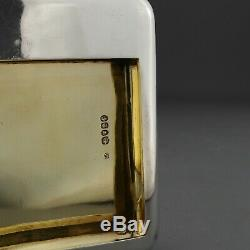 Rare Flasque / Étui À Cigarettes / Étui À Cigarettes En Argent Massif Antique Antique, 1853