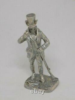 Rare Heavy Sterling Solid Silver Period Gentleman Loading Musket Rifle. 60grammes