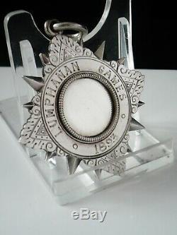Rare Médaille D'argent William Robb Kincardine O'neil, Jeux Du Lumphanan, Provinciale