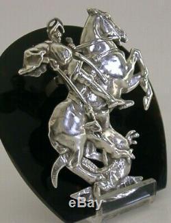 Rare St George & Desk Argent Sterling Dragon Clip 1896 Victorienne 108g