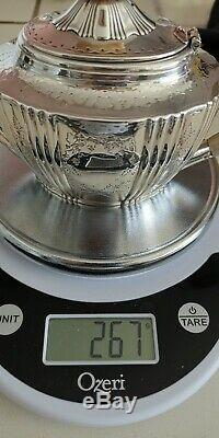 Rare Superbe Victorienne En Argent Sterling Bachelor / Demitasse Teapot, 267g / 9,44 Oz