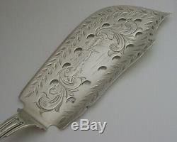 Rare Tiffany & Co Argent Massif Fish Tranche C1860s Pêche Scene American Antique