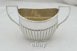 Rare Victorian Hm Sterling Silver 3 Pièces Batchelors Tea Set 1896