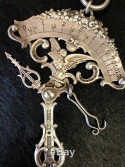 Rare Victorienne Gorham Échelle Pendante Lettre Postale Orné Theodore Starr