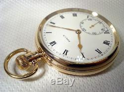 Rolex Superbe Montre De Poche Suisse Antique Solide Gold Or 9 Carats, 1927 Uk 9 Carats