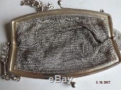 Sacoche De Soirée Pour Dame Victorienne Victorienne 1896 925 En Argent 925