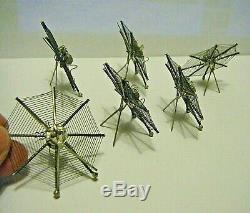 Set Victorienne 6 Sterling Silver Spiders 2 Fin Web Place Carte Détenteurs Halloween