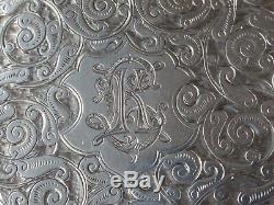 Silver Card Case Victorienne B'ham 1892 10cm X 7cm 73g Fabricant Thomas Hayes